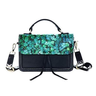 Fashion Unique Handbag Green Plant Lucky