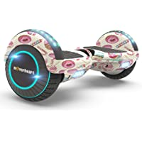 Hoverboard Two-Wheel Self Balancing Electric Scooter UL 2272 Certified, Metallic Chrome with Bluetooth Speaker and LED Light