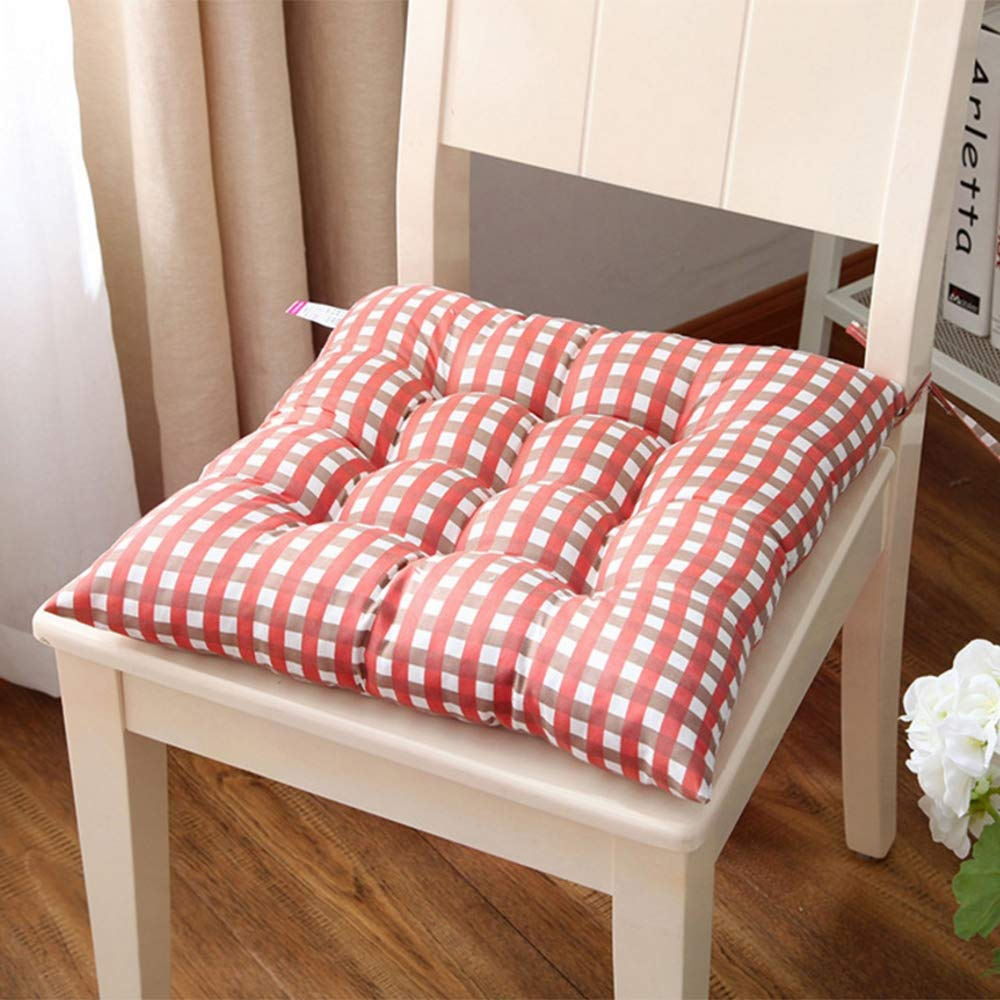 Set di 2 Cuscini per sedie Cuscini per sedie Cuscini per sedie da Giardino Cuscino per sedie con Cravatte,Brown,2pieceset ZFM Cuscino Sedile Imbottito