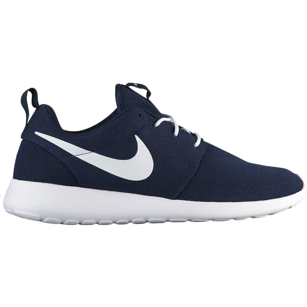 NIKE Men's Roshe One Running Shoes, Obsidian/White, 9