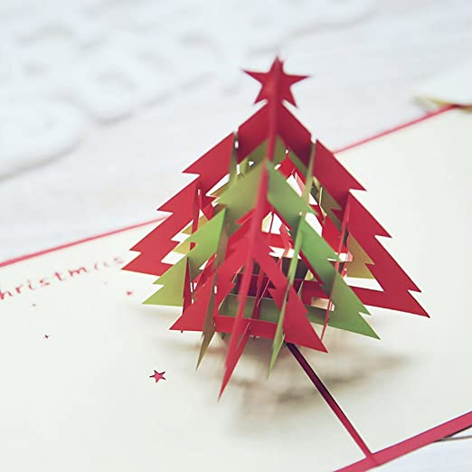 Tarjeta de felicitación de Navidad en 3D, de Reefa, madera, A3 ...