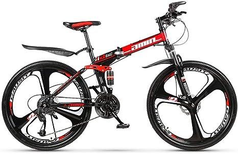 Bicicleta de montaña Bicicleta de carretera duradera Bicicleta de pista urbana plegable de 24 velocidades Cambio de 24 pulgadas Estudiantes masculinos y femeninos Doble amortiguador Adulto Doble d: Amazon.es: Deportes y aire