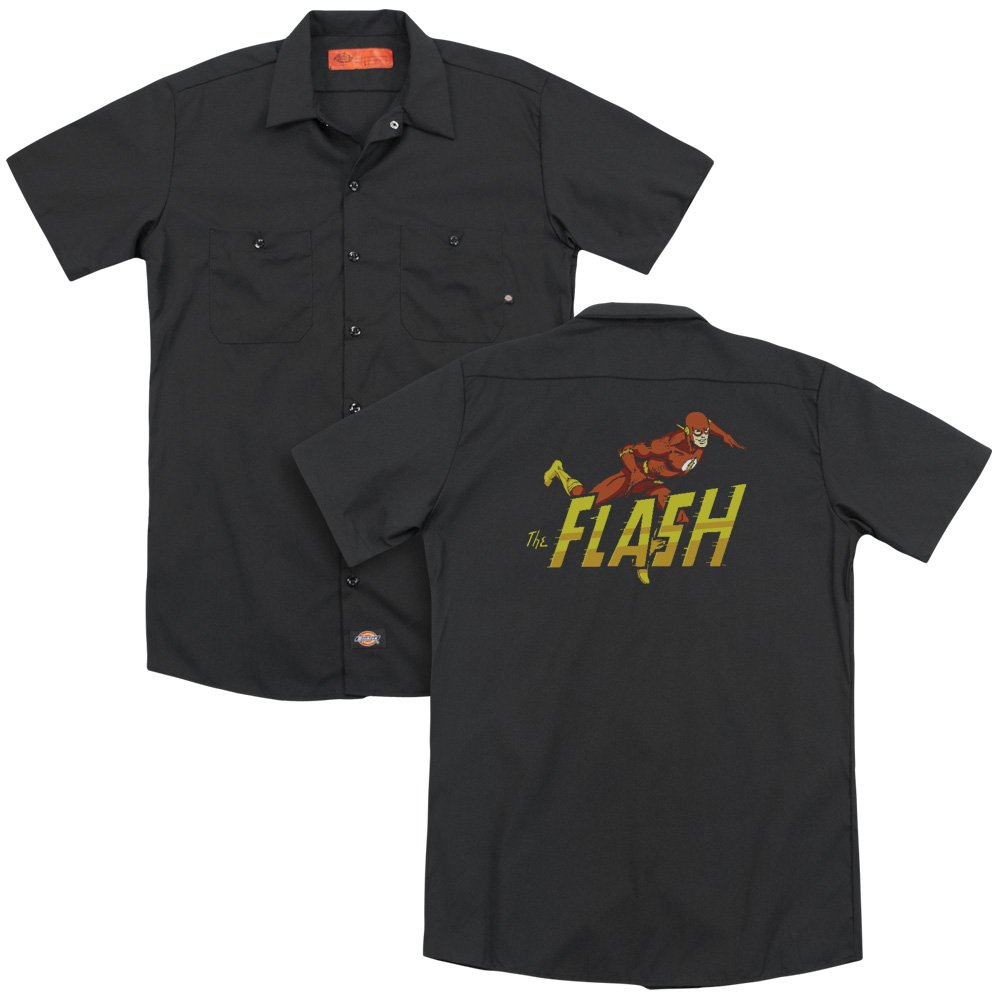 Dc 8 Bit Flash Adult Work Shirt