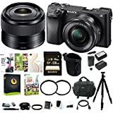 Sony a6300 Mirrorless Digital Camera w/16-50mm f/3.5-5.6 & 35mm f/1.8 OSS E-Mount Lens Bundle