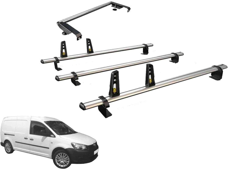 Van Guard Ulti Bar - Juego de 3 Barras de Techo y Rodillo de Escalera Trasera para VW Caddy Maxi (10-15): Amazon.es: Coche y moto