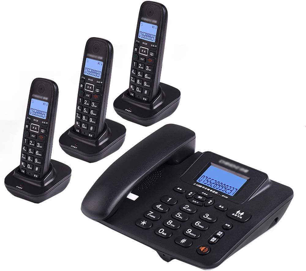 Uioy Teléfono, teléfono inalámbrico Digital, teléfono Fijo inalámbrico Inteligente Fijo (Color : Black, Style : 3): Amazon.es: Electrónica