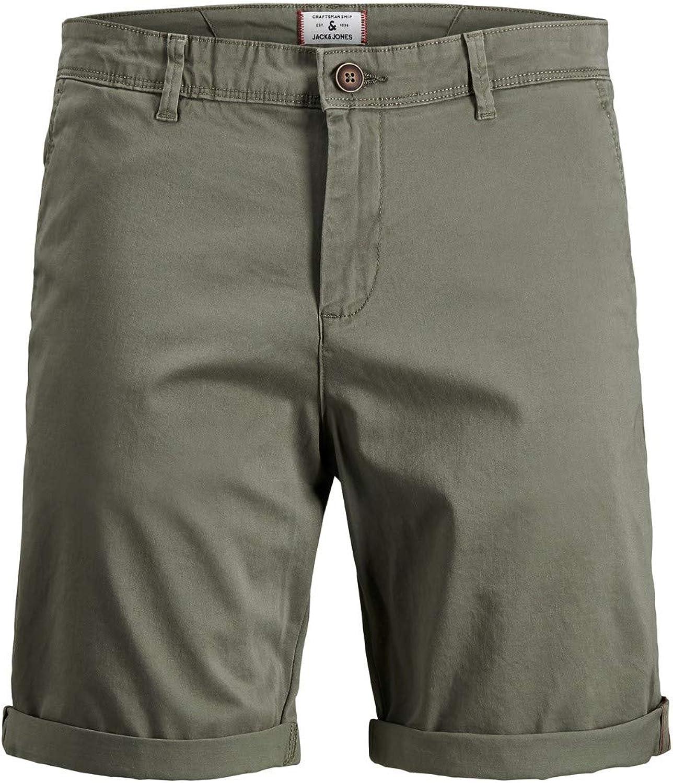 Jack /& Jones Jjibowie Jjshorts Solid Sa STS Shorts Homme
