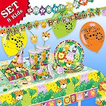 Set de decoración de cumpleaños infantil de animales de la ...