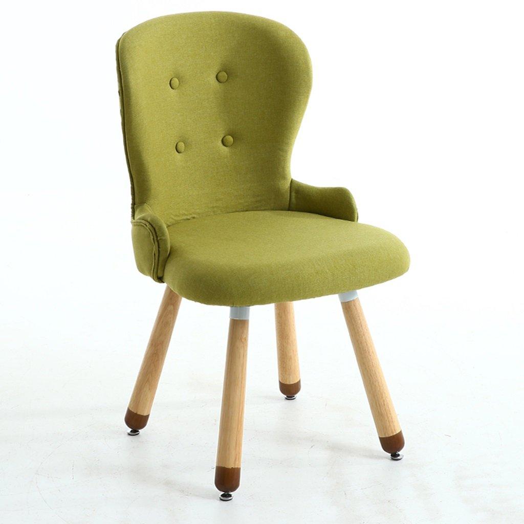大人のためのグレーベッドルームチェア、ソフトパッドと木製の脚、2セット、ダイニングルームビストロ用キッチン現代布張りチェアシートスツール (色 : 緑, サイズ さいず : Set of 1) B07DXQQ7T9 Set of 1|緑 緑 Set of 1