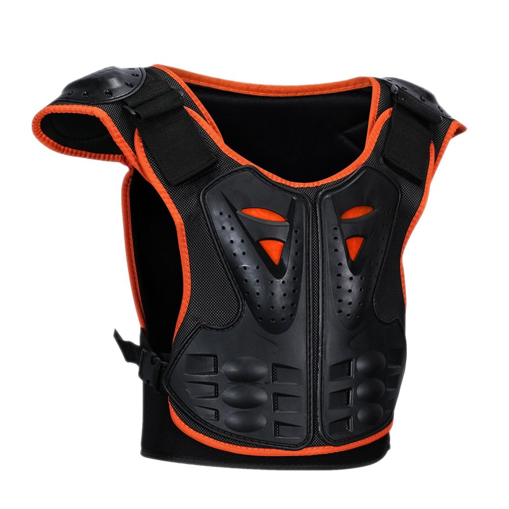 -Kid's Professional Flexible Reflective Armor Vest Protective Gear Jackets Guard Shirt For Dirtbike Motocross Skiing Snowboarding Dirt Bike Body Chest Spine Protector Back Motorcycle Support (Large) Taykoo