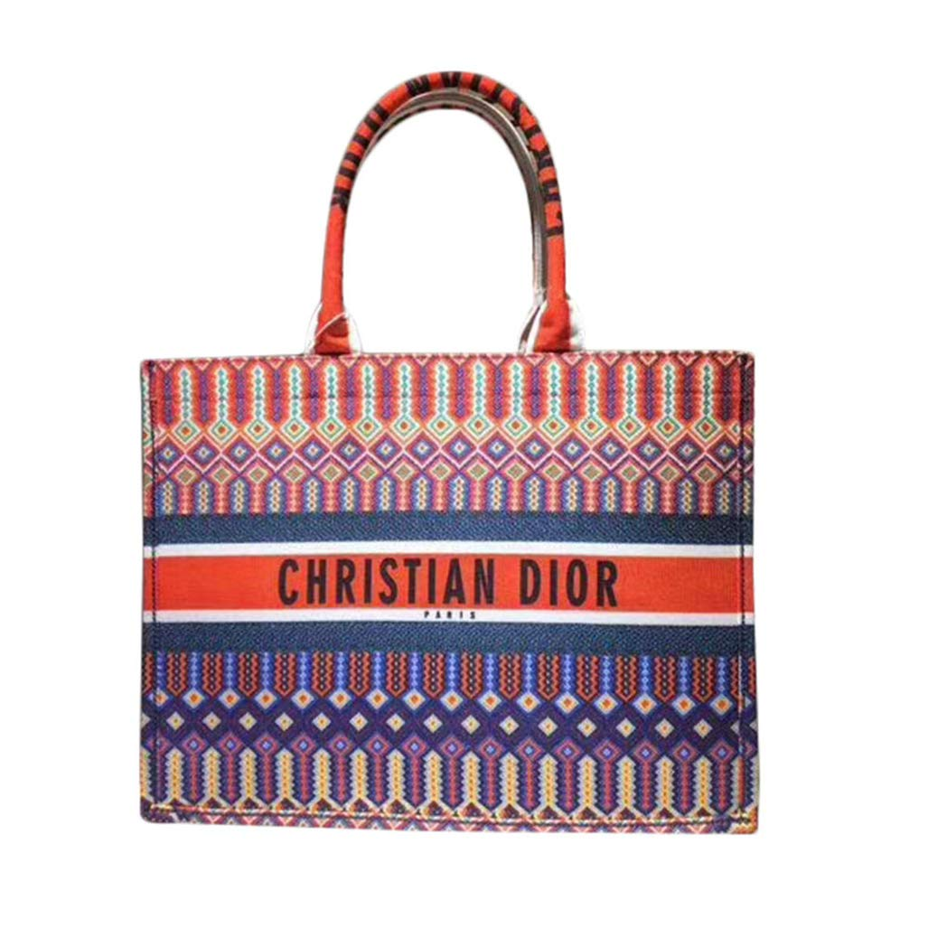 a96ff3462a Amazon.com: Womens Embroidered Dior Oblique Canvas Book Tote Bag: Shoes