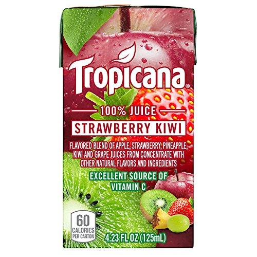 - Tropicana 100% Juice Box, Strawberry Kiwi, 4.23oz, 44 Count
