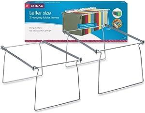 Smead Steel Hanging File Folder Frame, Letter Size, Gray, 2 per Pack (64870)