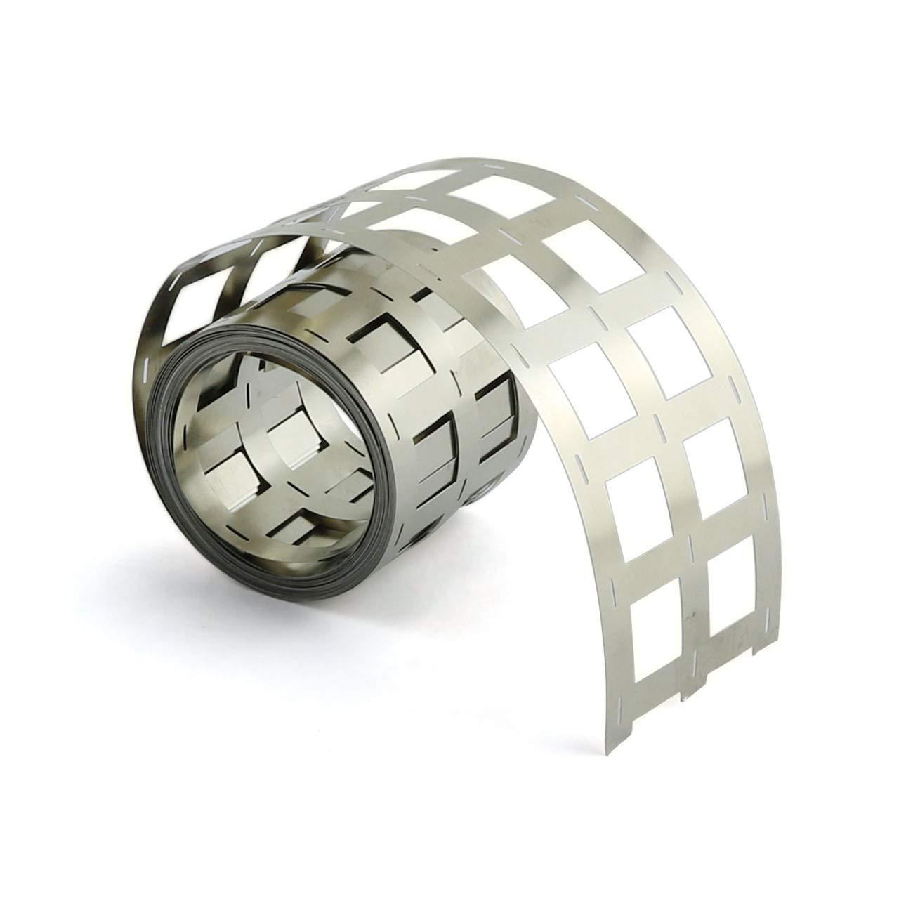 5M ZRM/&E 1 Roll 18650 Lithium Battery Pack Nickel Plating Strip 20.25mm Spacing 3 Parallel Batteries Spot Welding Nickel Plating Belt
