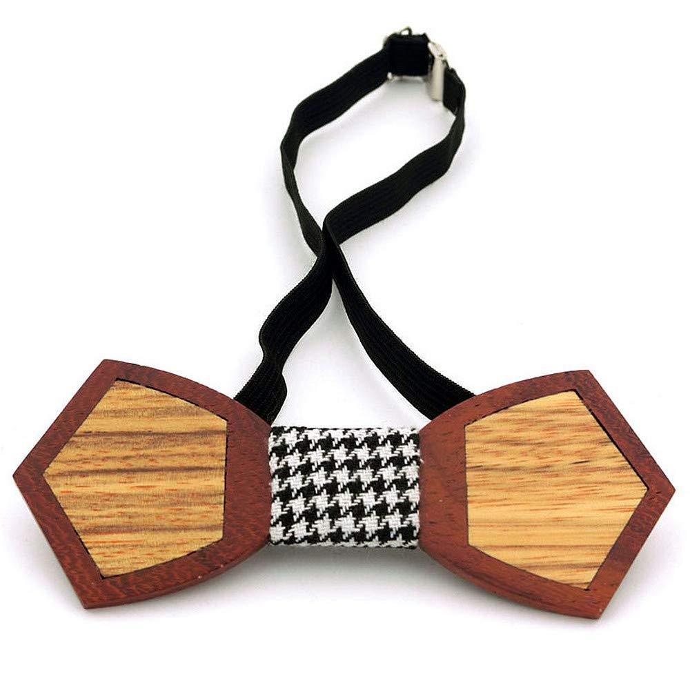 03a96be42b98b Couleur : C1 Accessoires Yamyannie Classique Cravate Rétro Bois Noeud  Papillon à la Main créative avec boîte ...