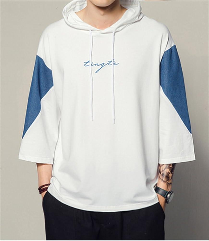 シンプル 大きいサイズ 快適 面白い トップス 春夏着服 半袖 カジュアル メンズ Tシャツ オシャレ パーカー きれいめ