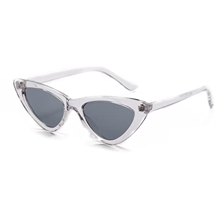 e2b89c0bd8844 Image Unavailable. Image not available for. Color  YJZ Retro Narrow Cat Eye  Sunglasses For Women Clout Goggles Plastic Frame Universal ...
