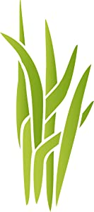 Marsh Grass Stencil, 4.5 x 10 inch (S) - Sedge Water Plant Decorative Stencils for Painting Template