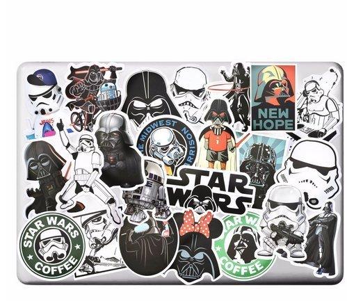 25pcs Star Wars Cool Car Sticker Graffiti Bomb Skateboard Luggage Car Decal New