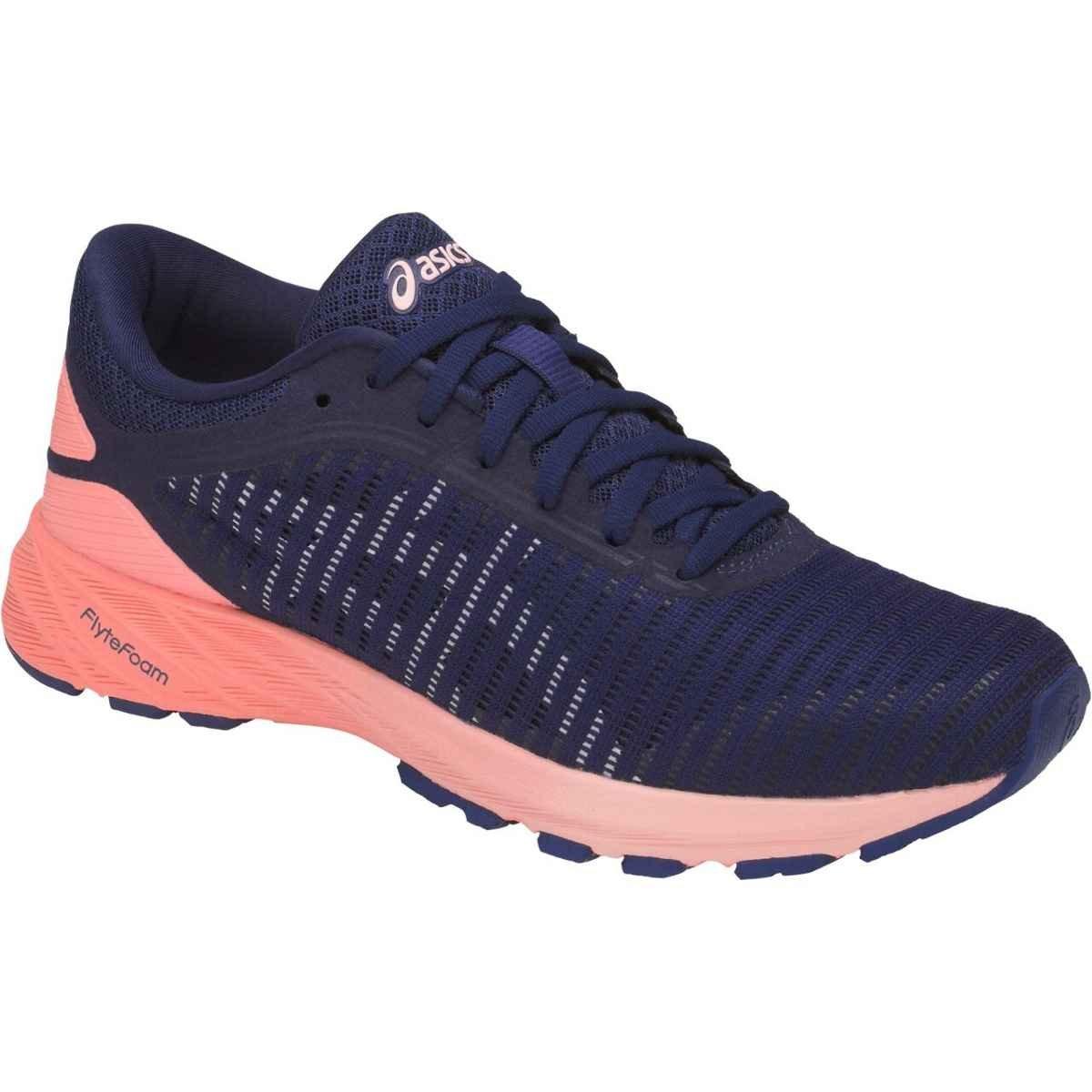 ASICS Women's Dynaflyte 2 Running Shoe B072LMW11X 5 B(M) US|Indigo Blue/White/Begonia Pink
