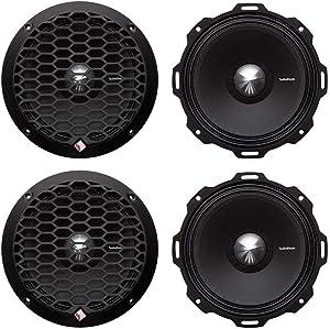 """4 Rockford Fosgate PPS4-6 6.5"""" 800 Watt 4-Ohm Midrange Car Loudspeakers Speaker"""
