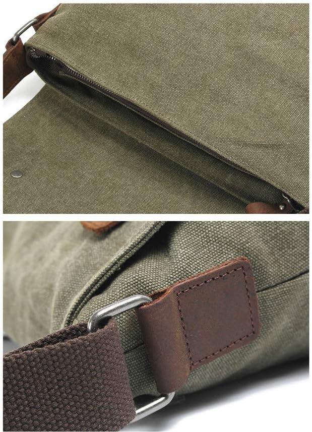 Briefcase Bag Mens Briefcase Vintage Canvas Laptop Messenger Bag Satchel Bag Work Business Bag Crossbody Shoulder Bag Handbag Computer Bag Travel Business Work School College Color : Army green