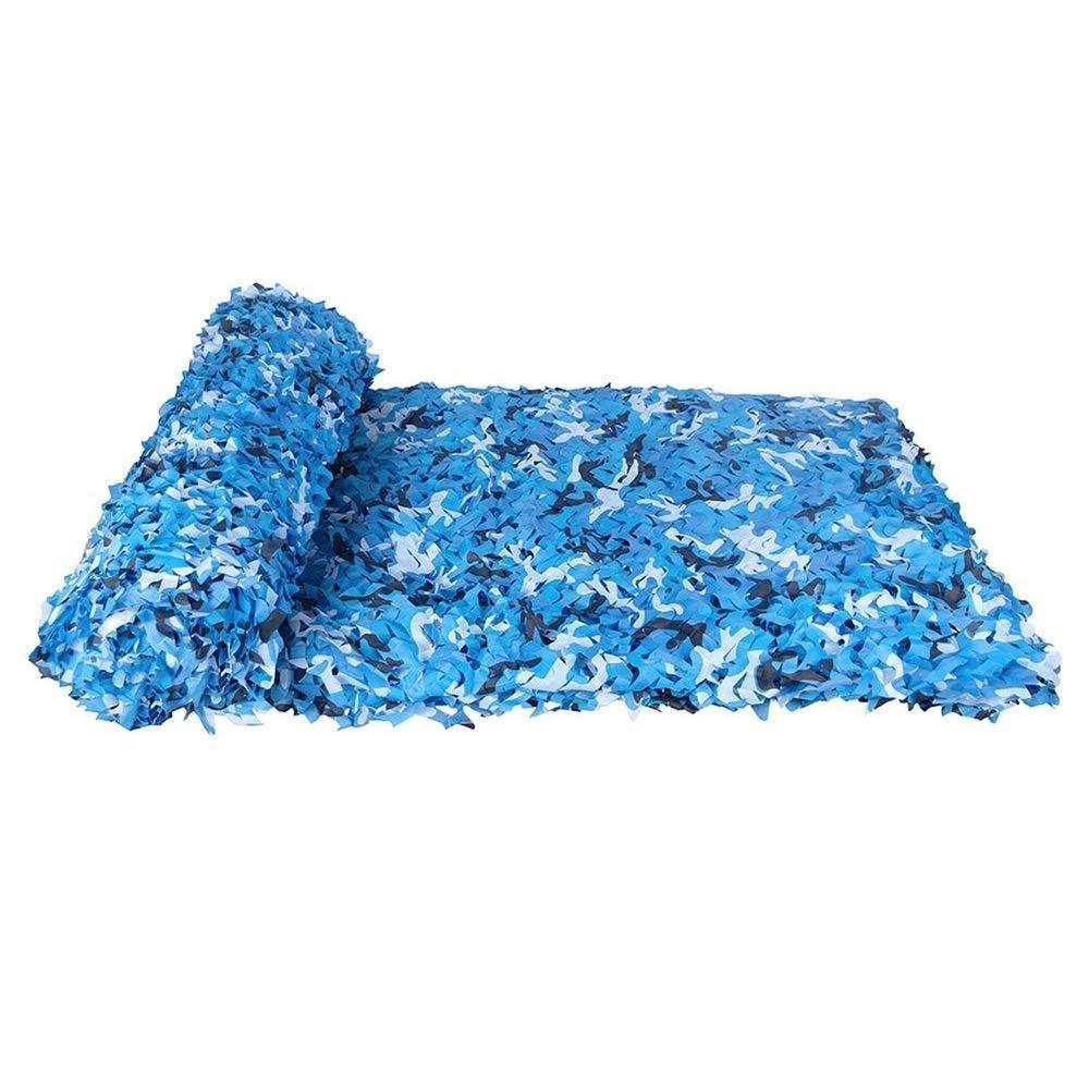 Ljdgr Filet Camo Visière Extérieure GR Océan Bleu Camouflage Net Outdoor Décoration Camouflage Tissu Oxford (Taille  8x8m) Armée Camo Filet (Taille   3x9m)  3x9m