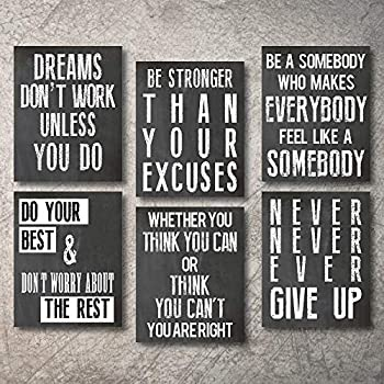 Inspirational Wall Art Poster Prints Quote Positive Affirmation Motivational Wall Art Quotes Pictures fun Office Wall Decor Artwork Art for living room bedroom walls office art (Office1, 5x7)