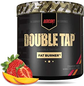 REDCON1 - Double Tap - Fat Burner - Muscle-Preserving Fat Burner, Thermogenic Weight Loss Supplement – Keto Friendly, Appetite Suppressant - for Men and Women - 40 Servings (Strawberry Mango)
