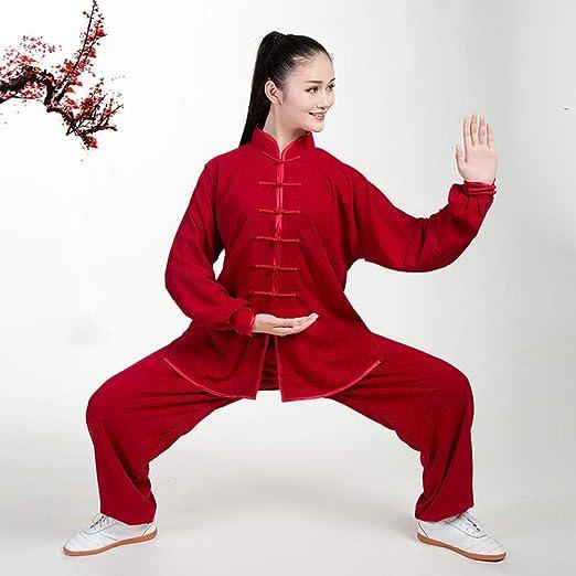 WERTYUH Ropa De Tai Chi Unisexo,Chino Shaolin Kung Fu Wing Chun ...