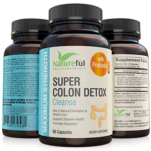 Best Colon Cleanse for-Weight-Loss: Belly fat Burner for Women with Probiotics! ★ Flatten Stomach or Your Money Back ★ The Original Natural and Complete Detox Cleanse Pills