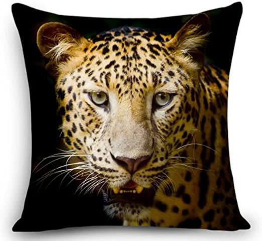 """Luxury Cheetah Animal Print Square 18/"""" X 18/"""" Cushion Covers Pillow for Sofa Bed"""