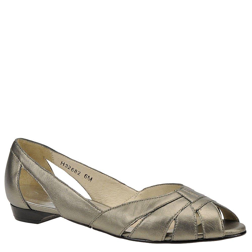 Mark Lemp Classics Womens Zuzu Peep Toe Ballet Flats B007D1X3MQ 7.5 E US|Pewter