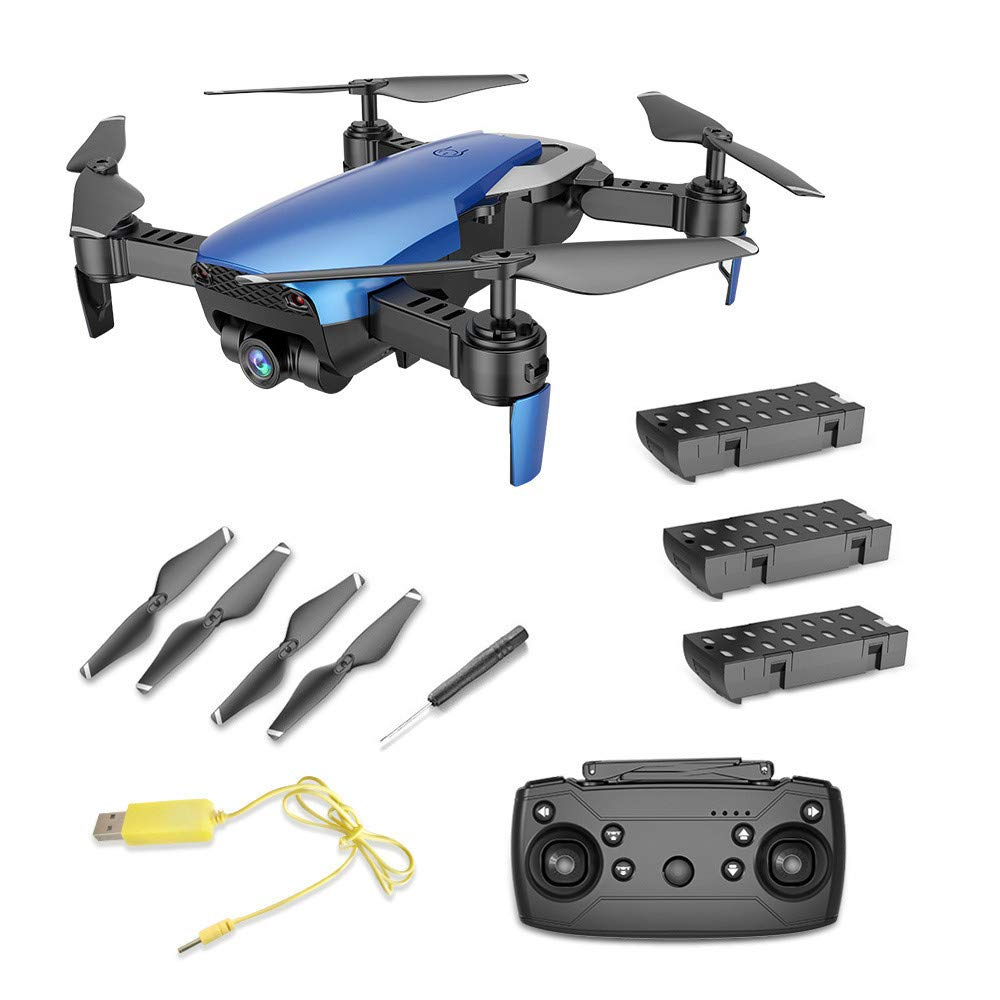 X12 RC Quadcopter 2.4G 0.3MP Six Axis Gyroscope WiFi FPV Real-time Drone Altitude Hold Drone with Three 3.7V 1000mAh Lipo Battery for Drone Enthusiast (Blue)