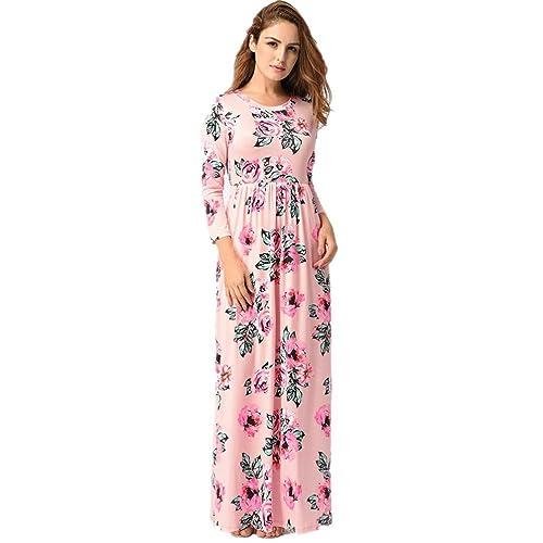 vestidos de mujer,Switchali Mujer manga larga bohemio Traje de baño para mujer Verano moda