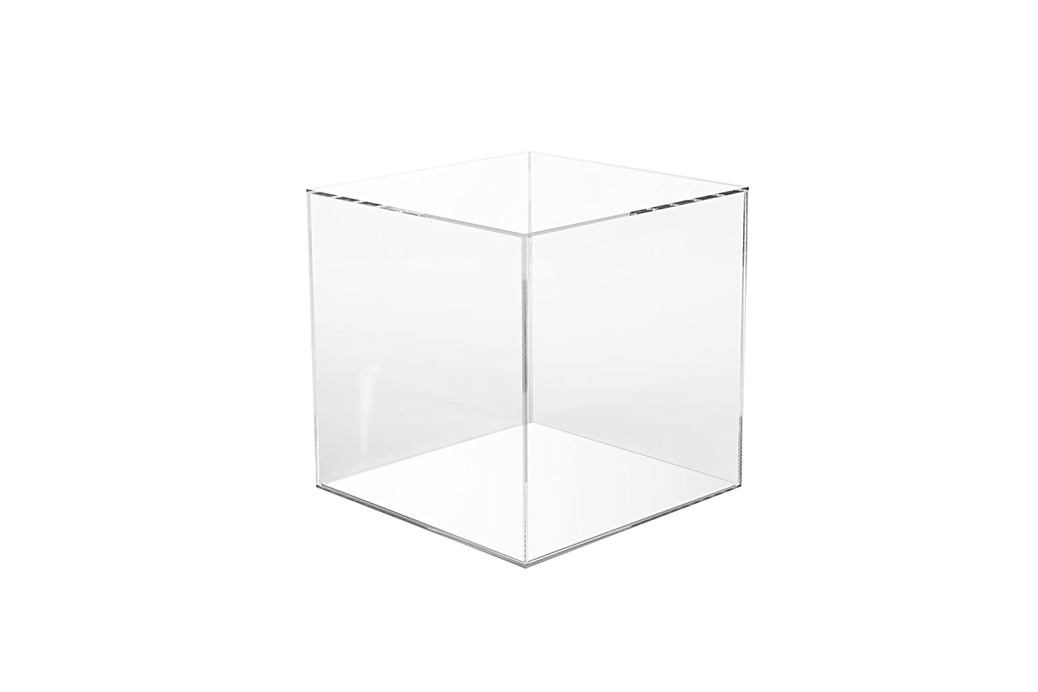200 MM  5 SIDED CLEAR ACRYLIC PERSPEX   DISPLAY CUBE