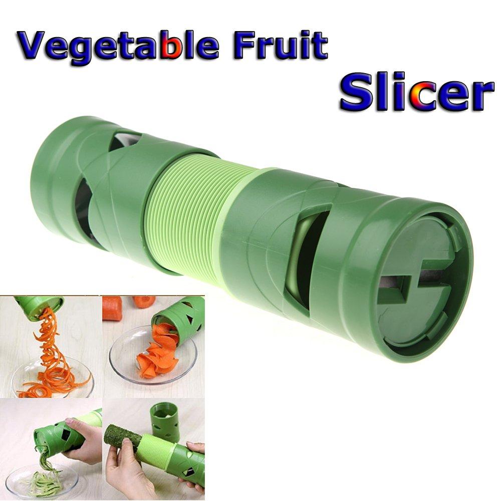 constructan ( TM )キッチンアクセサリーツールクッキングツールコンパクト野菜果物ツイスタースパイラルカッタースライサー台所用具処理デバイス2014   B01AWA82H0
