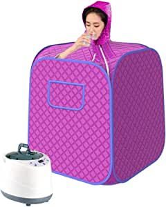 INLOVEARTS Portable Personal Steam Sauna, Foldable Sauna Tent, Can Easily Lose Weight and Detoxify at Home, Equipped with Upgraded 2 Liter Steam Generator and Remote Control