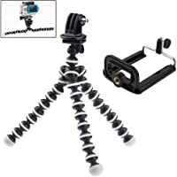Adjustable 2 in 1 GoPro Xiaomi & Mobile Phone Tripod Camera Mount - Octopus Flexi Arm Stand for Go Pro Hero + Free…