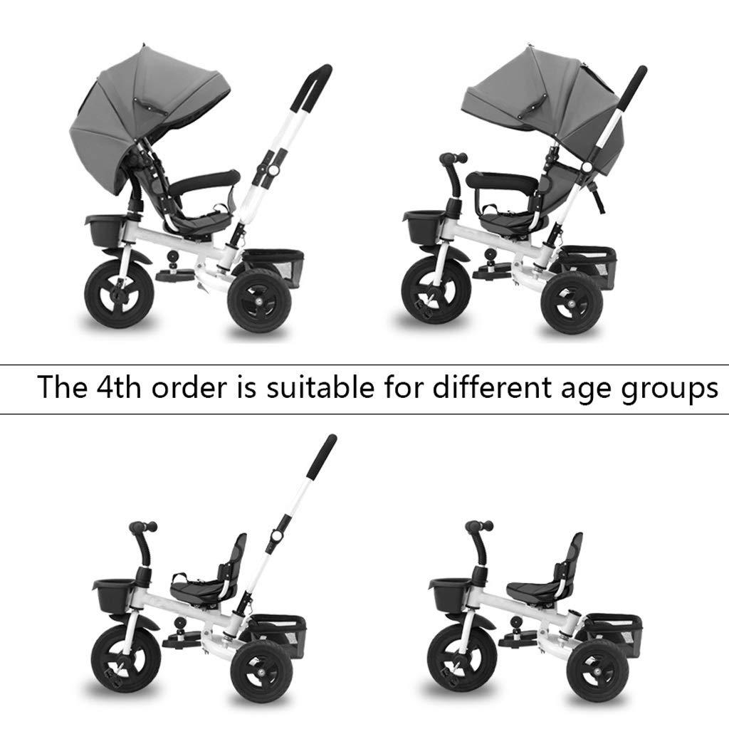 GYF Bambina Pieghevole Parasole Triciclo,con Maniglione 2 In 1 ...