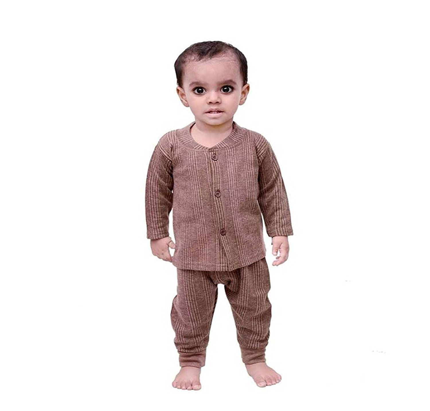 0eb86095e21 Mahi Fashion Baby's Front Open Thermal Suit Top & Pajama Set - Pack of 3:  Amazon.in: Clothing & Accessories