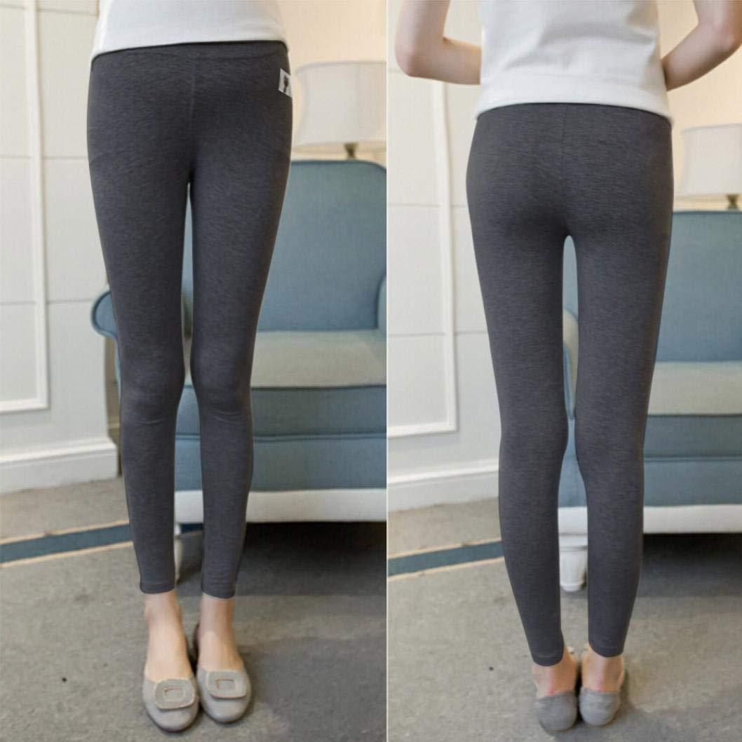 BBsmile Ropa Embarazadas Maternidad para Mujeres Pantalones Finos de Color Liso Pantalone Britches