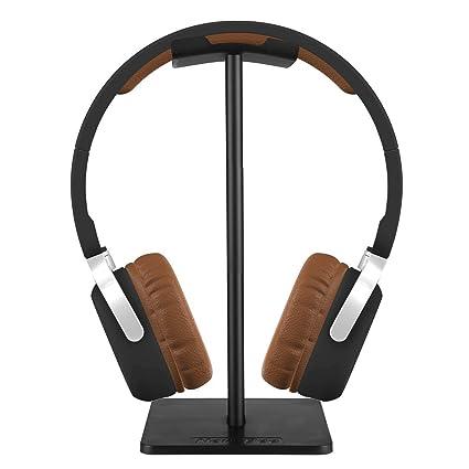 Soporte para auriculares de diadema de Forrader, universal, de aluminio, para auriculares de