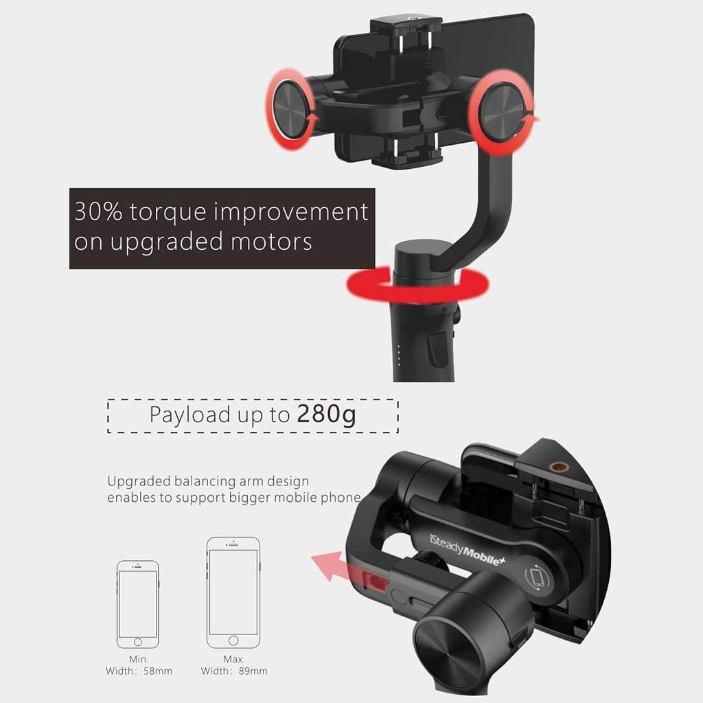 Gimbal Stabilizer for Smart Phone 3-Axis Handheld Hohem Isteady Mobile Plus Professional Video Stabilizers Life Director