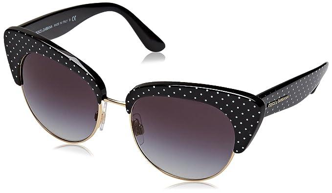 Dolce & Gabbana 0Dg4277 Gafas de sol, Poison White On Black ...