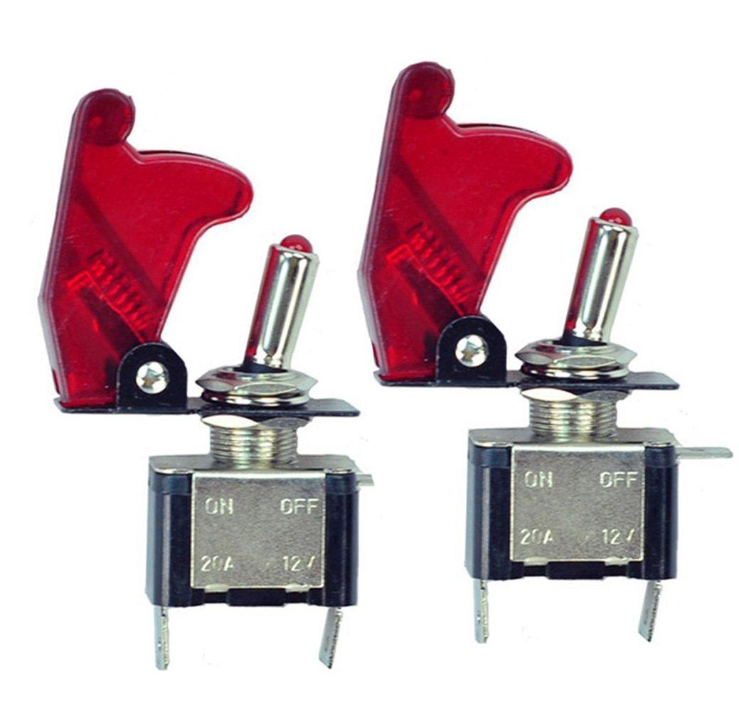 HOTSYSTEM 2x 12V 20A Interrupteur à Bascule ON/OFF pour Voiture Bateu avec LED rouge product image