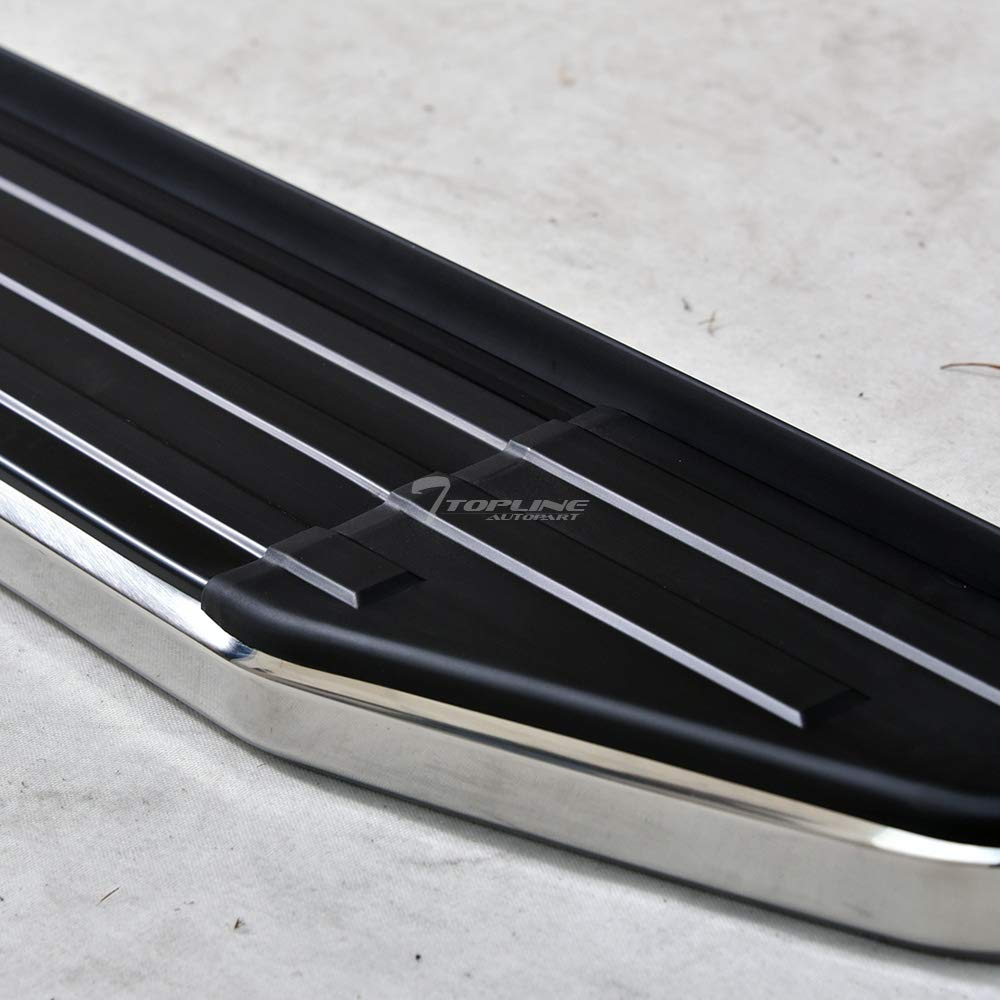 Topline Autopart 6'' VP Style Black With Chrome Trim Aluminum Side Step Rail Running Boards For 10-13 Toyota Highlander by Topline_autopart (Image #4)