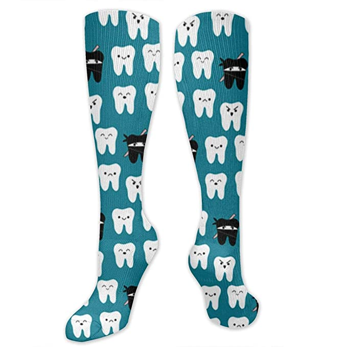 Amazon.com: Tooth Fabric Way Of The Ninja Tooth High Socks ...