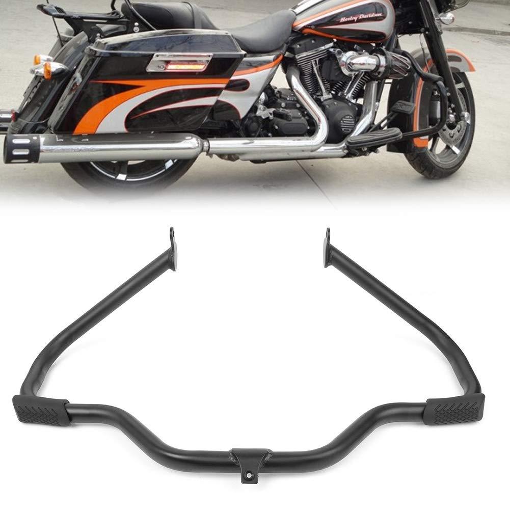 Black Engine Guard Crash Bar For Harley Touring 09-17 Road King Street Glide