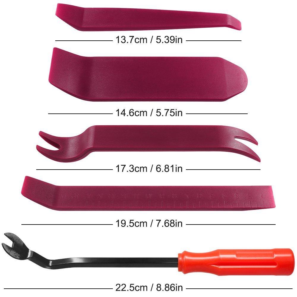 CKANDAY Clip per pannello della portiera dellautomobile trattino Cruscotto smontaggio di fissaggio per chiusure di fissaggio 10 pezzi da Kit di strumenti per la rimozione del trim automatico Viola